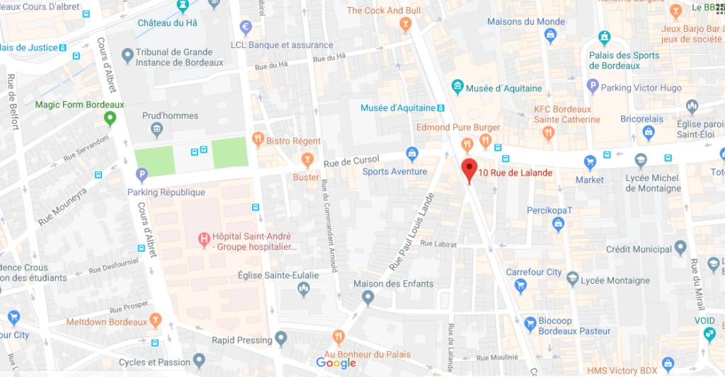 Plan Brasserie Siméon
